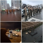 اجرای خیابانی گروه سرود هیئت انصار المهدی (عج)