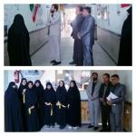 بازدید کادر اتحادیه انجمنهای اسلامی دانش آموزان از نمایشگاه مدرسه انقلاب دبیرستان فاطمیه شهر کمیجان