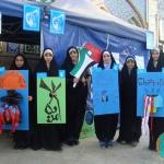 برپایی غرفه استکبار ستیزی توسط دانش آموزان عضو انجمن اسلامی شهر اراک