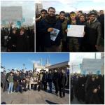 دانش آموزان انجمنی در مراسم تشییع سردار دلها شرکت کردند