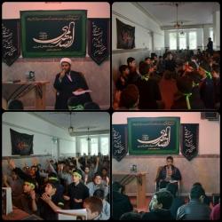 اولین جلسه هیأت دانش آموزی انصارالمهدی در مدرسه امام علی علیه السلام (متوسطه اول)