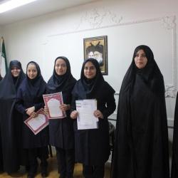 تکریم و معارفه مسئولین انجمن های اسلامی دبیرستان دخترانه شهرستان اراک