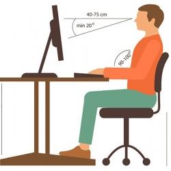 نحوه صحیح نشستن پشت میز کامپیوتر